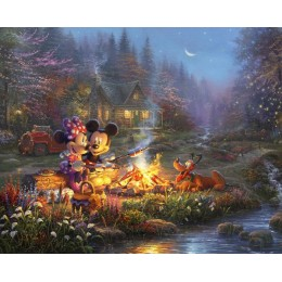 Disney Dreams Sweetheart Campfire Mickey Minnie Mouse