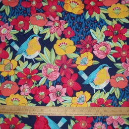 Alexander Henry Folklorico Los Loros Parrot Macaw Cotton Quilting Fabric