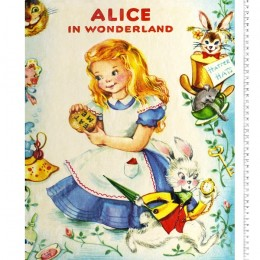 Disney Storybook Collection Alice in Wonderland quilt top panel