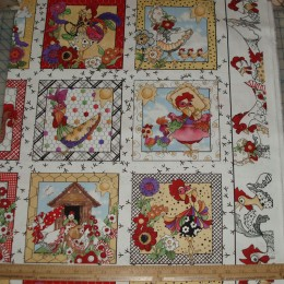 Loralie Designs Chicken Chique Fabric Panel