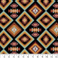 Native American Raindance Argyle black multi