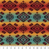 Native American Tribal Mystic coral teal