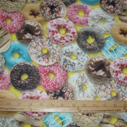 Sprinkled DONUTS on yellow