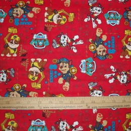 Cotton Paw Patrol on Red