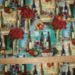 Wine Bottles & Flowers