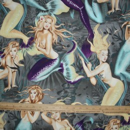 Alexander Henry Sea SIRENS Mermaids on Charcoal
