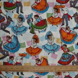 Mexican Folklore Ballet on white