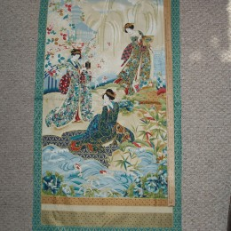 Robert Kaufman Imperial Geisha Girl color B PANEL