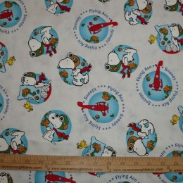 Quilting Treasures Flying Ace Snoopy plane world