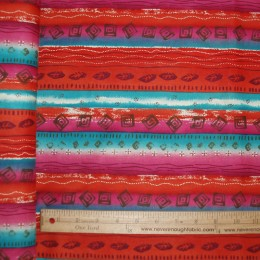 Native American Motif on magenta & Turquoise