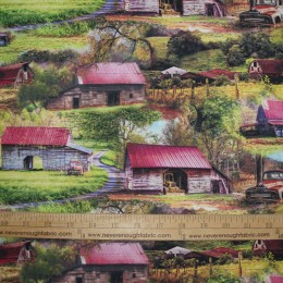 Digital prints A bunch of old barns