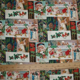 Christmas Cotton Fabric Holiday Snapshots