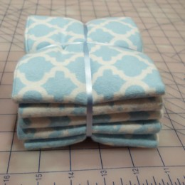 Cotton FLANNEL fat quarter bundle Blue combo