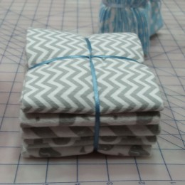 Cotton FLANNEL fat quarter bundle Gray combo