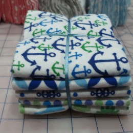 Cotton FLANNEL Fat Quarter Bundles Nautical Blue