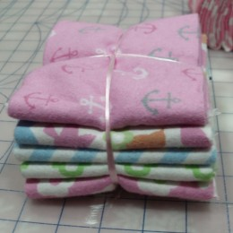Cotton FLANNEL fat quarter bundle Pink  combo