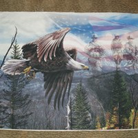 Free like an Eagle panel Military Soldiers American Flag