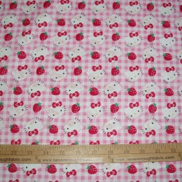 Hello Kitty on pink gingham