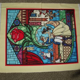 Beauty and the Beast Cotton Quilt top Panel