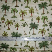 Cotton Fabric Palm Trees