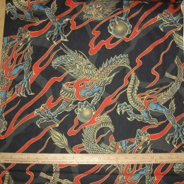 Alexander Henry Golden Tatsu Dragon on black