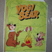 Cotton Quilt Panel Yogi Bear