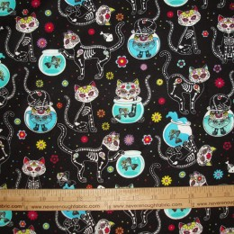 FLANNEL Calaveras Cats
