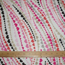 Cotton Blend Hearts in a wavy pattern