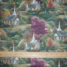 Thomas Kinkade Spring Chapels Church in the country side