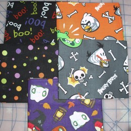 Cotton Fat Quarter Bundle Angry Birds Halloween
