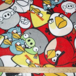 Fleece Licensed ANGRY BIRDS Packed Angry Birds Characters on red