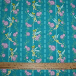 Tinkerbell Cotton FLANNEL Floral Stripe