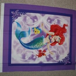 Cotton Quilt Blanket top panel Ariel The Little Mermaid