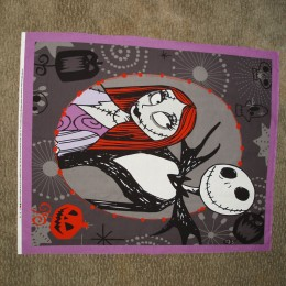 Cotton Quilt blanket panel Nightmare Before Christmas