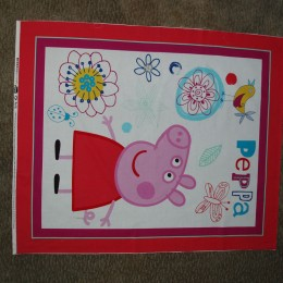 Cotton quilt blanket panel Peppa Pig