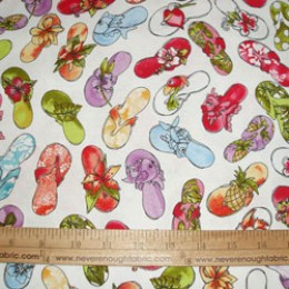 Loralie Designs Fun Beachy Flip Flops Sandals