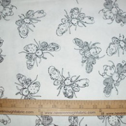 Loralie Designs Busy Bees on white - good for color me!