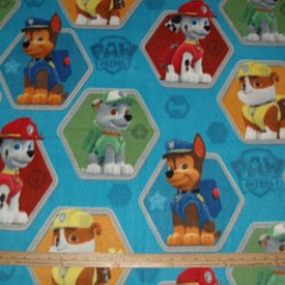Fleece Fabric Paw Patrol Rescue Marshall Chase Rubble