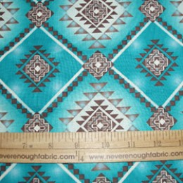 Native American motif on turquoise   *scrap*