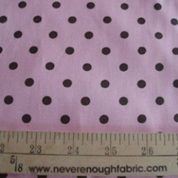 Brown polka dots on pink
