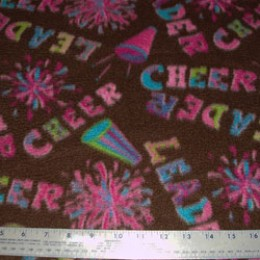Fleece Cheer Cheerleader on Brown