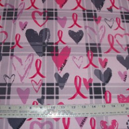 Cotton Blend Breast Cancer on gray plaid on lavender (10)