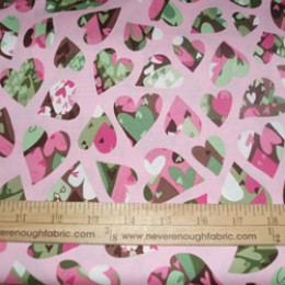 Cotton Blend Patterned Hearts (11)