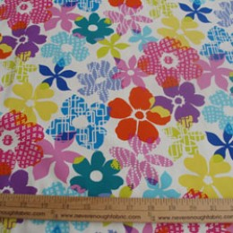 Cotton Blend funky floral (25)