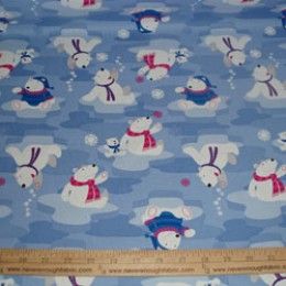 Cotton Blend  Polar Bears and Snowflakes (28)