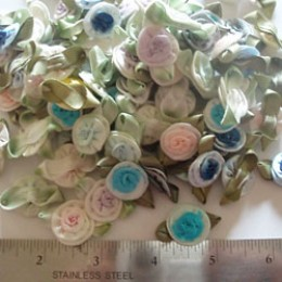 Large variegated assorted colors swirl roses flowers #44