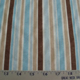 Claire Bella Blue and Brown stripe