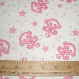 Flannel Skelanimals Marcy Monkey pink