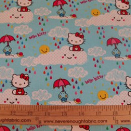 Hello Kitty Sanrio cotton fabric Rain or Shine collection cloudy rainy day
