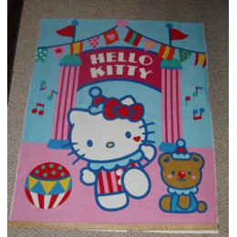 Hello Kitty Sanrio cotton Blanket Panel ~ Big Top collection ~ Clown